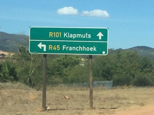 Franschhoek Sign